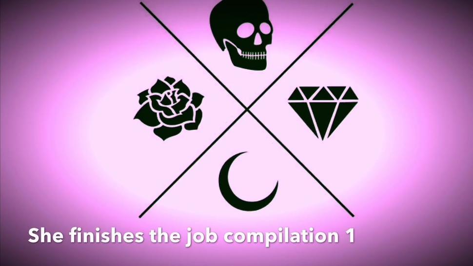 She finishes the job cumshot compilation 1