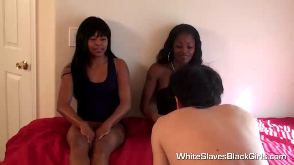 Hot Ebony Femdoms Humiliating White Guys