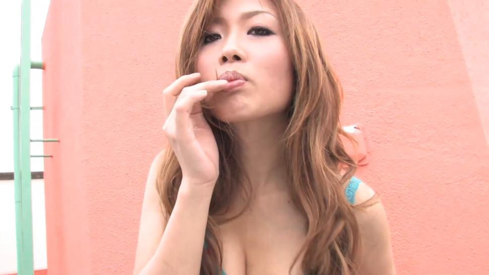 NIPPON HAIRY - Asian in lingerie gets her hairy pussy pleased with toys