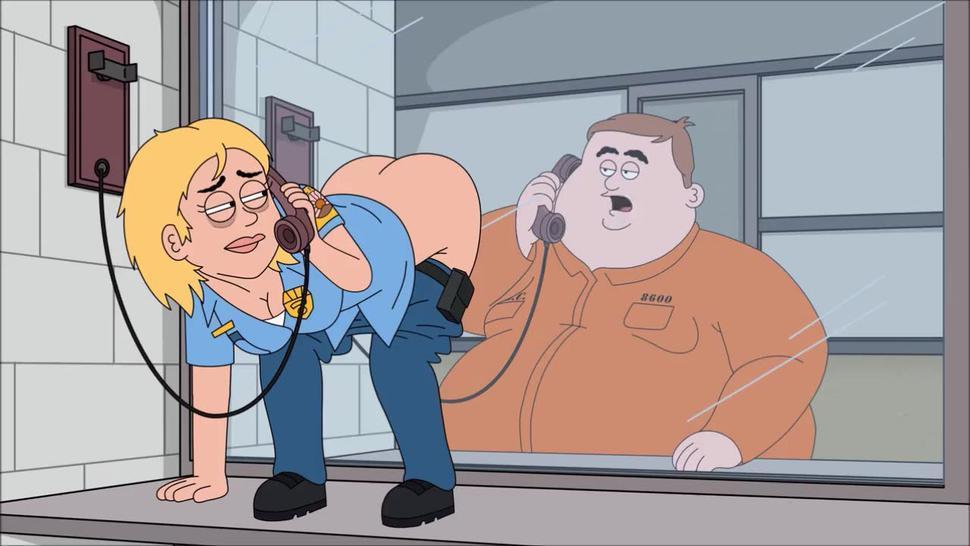 Lesbian/orgasm prison female cop