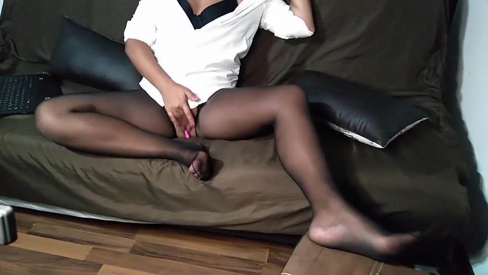 Cum Play with me in Pantyhose, Sexy Nylon Feet!!
