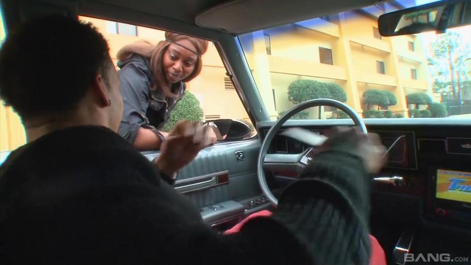 Ebony slut endures man's endless cock like a champ