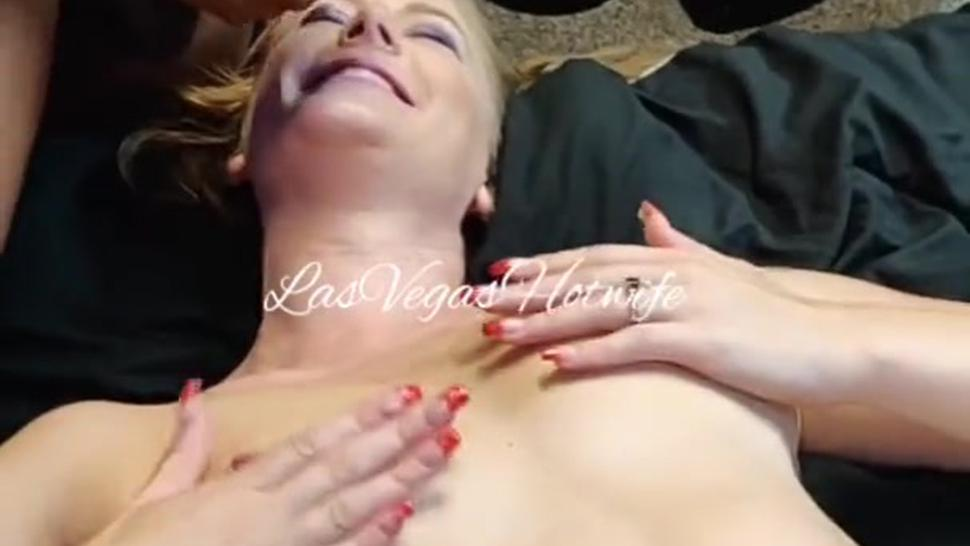 BBC Coats Hotwife's Face With Cum