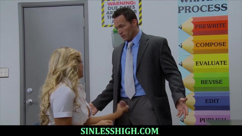 Teacher collegues making up after class