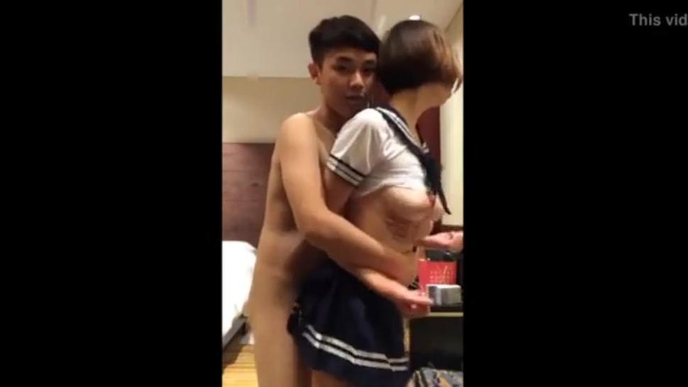 Asian teen couple show