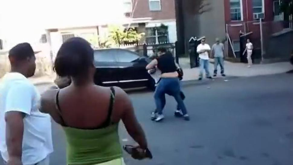 Street fighting until the tits fall out