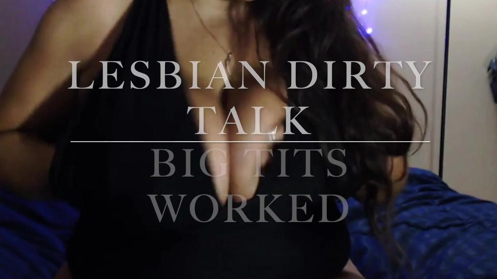 Lesbian Dirty Talk And Big Tits Worked