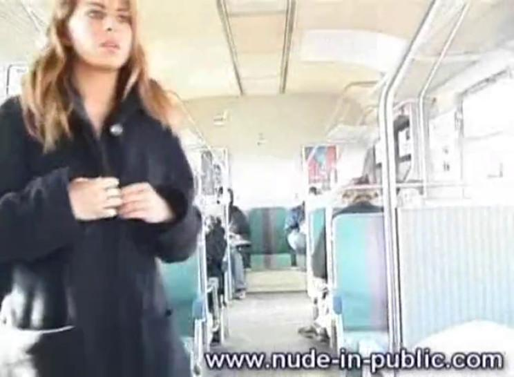 Only one Naked in a Public Train