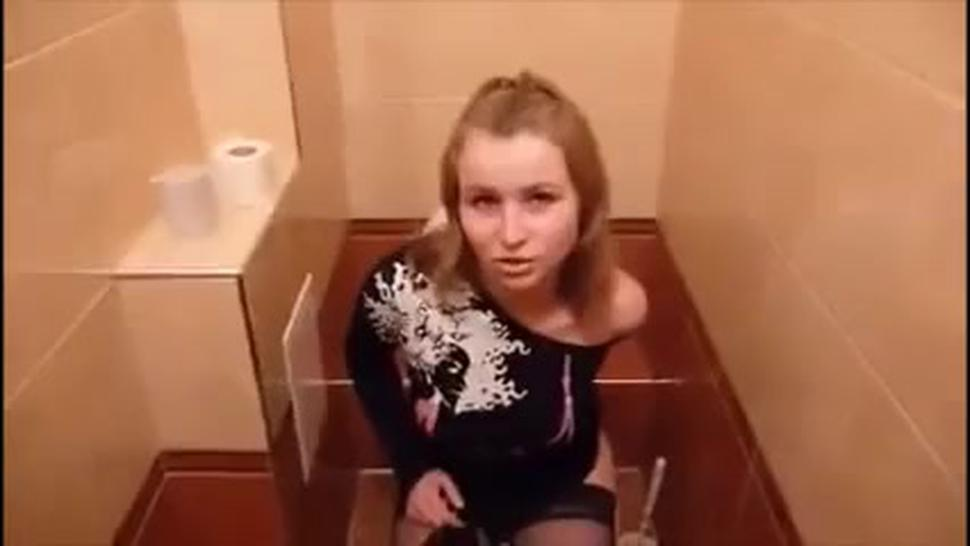 Russian Stockings Sex Toilet