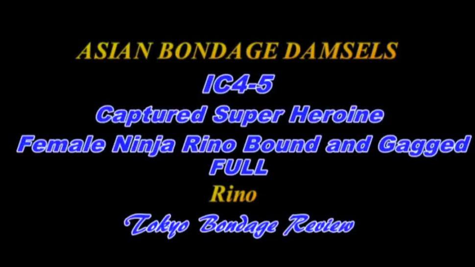 Asian Bondage Captured Super Heroine Female Ninja Rino Bound And Gagged