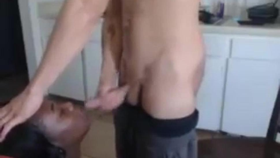 18 Year Old Justin Cums On His 29 Year Old Maid