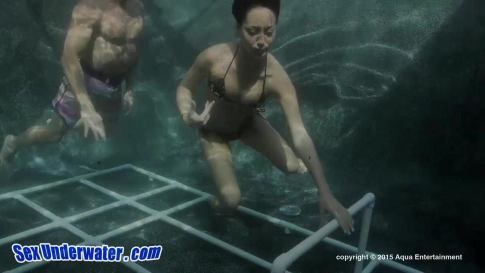 Underwater Fun With Hot Brunette - Sabrina Banks