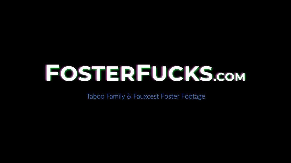 FOSTER FUCKS - Busty stepmom Lauren Phillips in 3some with stepdaughter