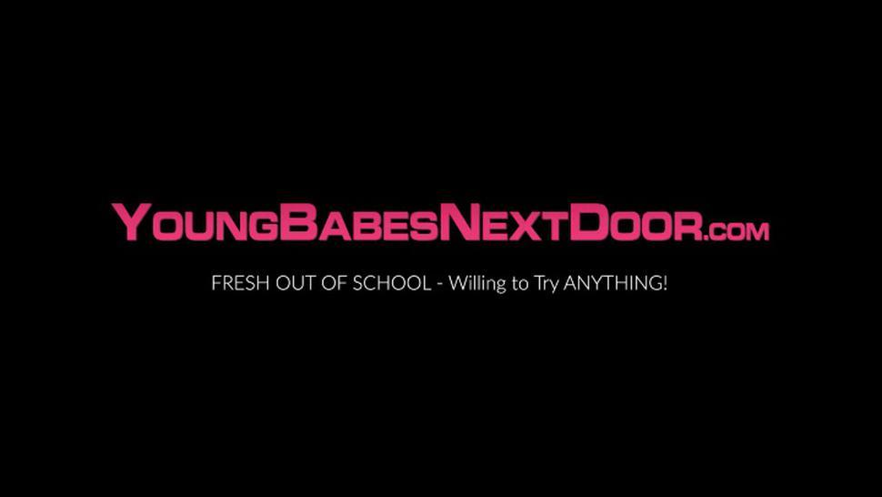 YOUNG BABES NEXT DOOR - Stockings lesbo MILF Lavender Layne hardcore dildo drilling