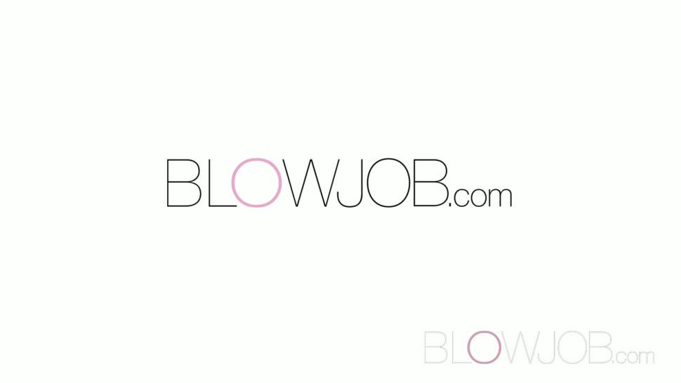 BLOWJOB - Stunning blonde has G-spot orgasm before a mouth full of hot cum
