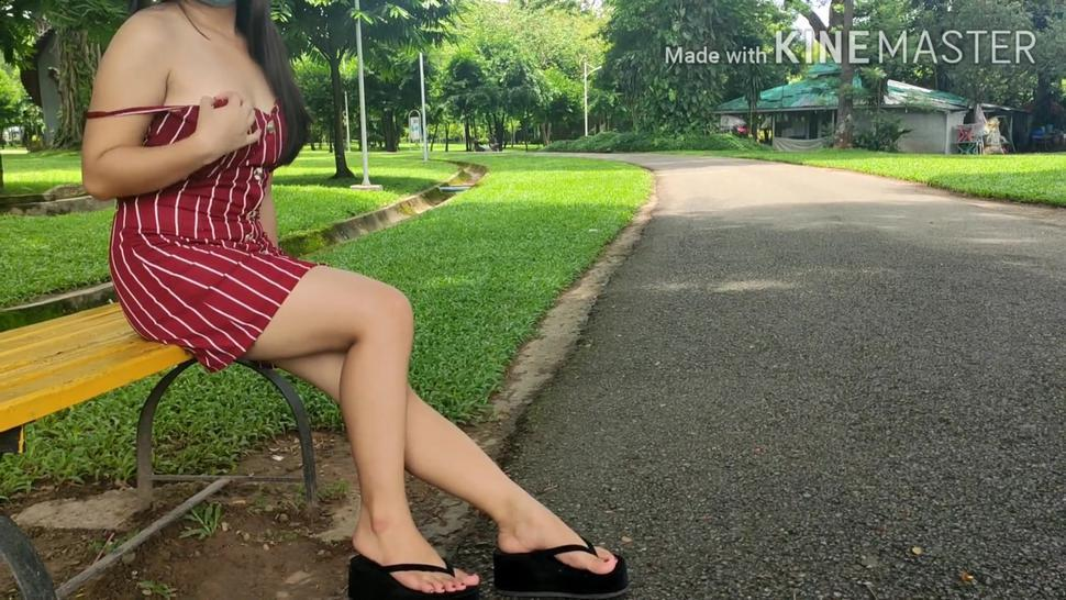 Myanmar amateur model phway phway public tits flashing at People Square Park