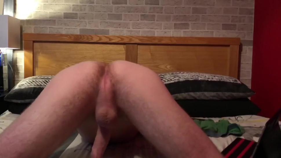 barley legal twink shows off his ass, plays with his hole and gives himself a facial