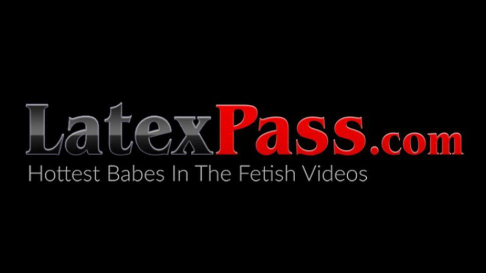 LATEX PUSSY CATS - Gorgeous BDSM babe Alexis Amore hardcore whipping pussy play