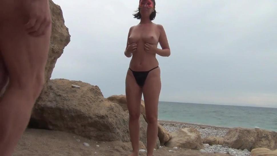 Horny Mature Couple On Nudist Beach Sex Affair