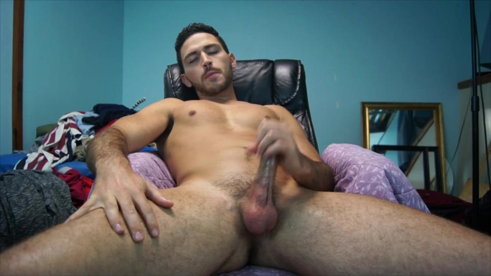 Handsome Young Hot Guy Cums All Over Himself - Leaked Ex Bf Video - Big Dick Cumshot