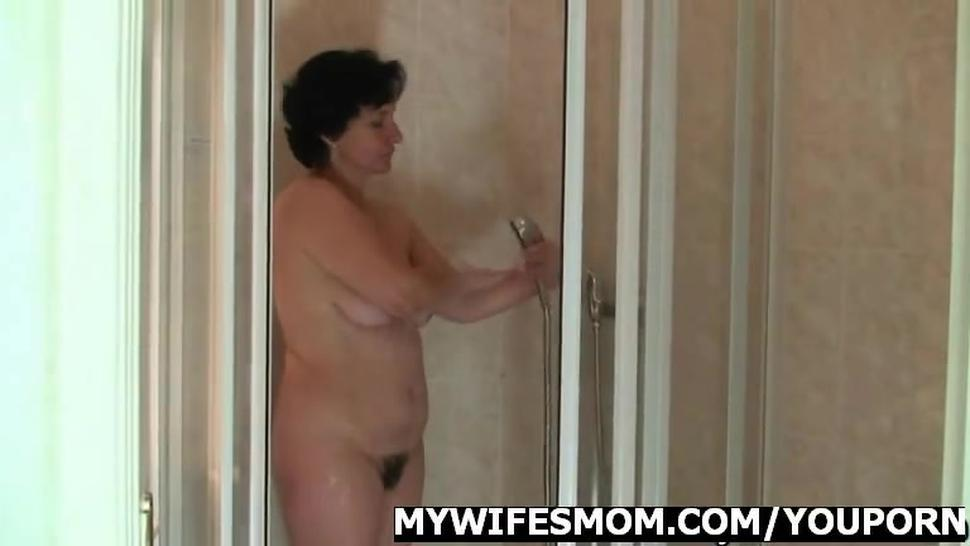 Wife goes wild when finds him fucking her mother