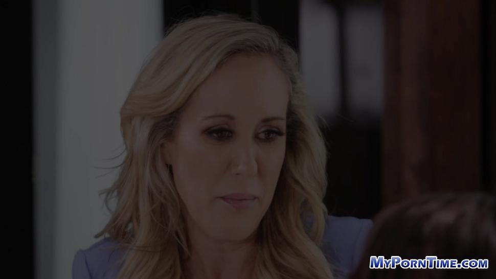 Brandi Love teaches lesbian sex to Uma Jolie