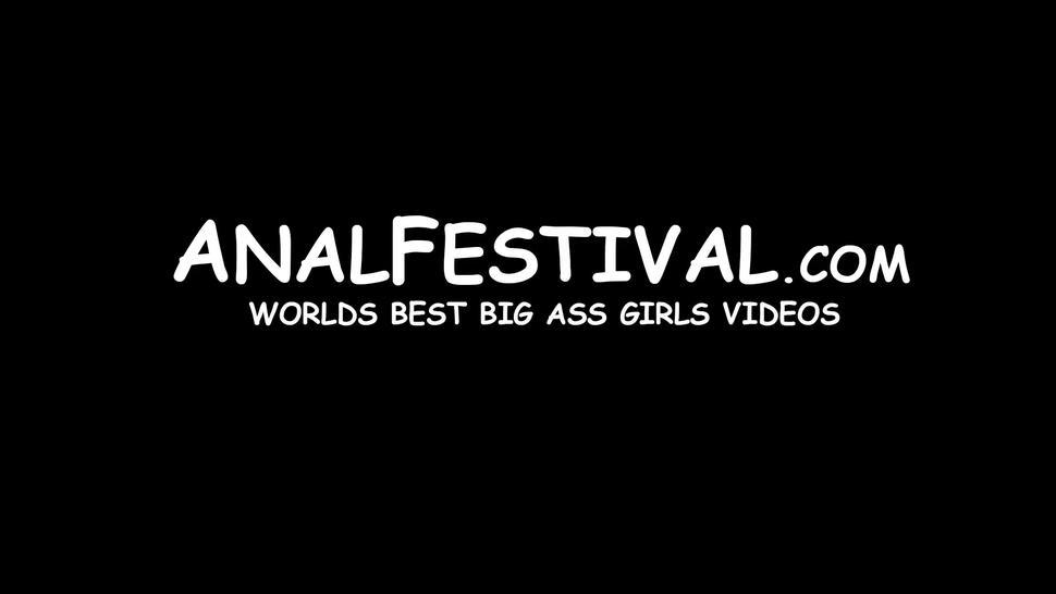 ANAL FESTIVAL - Bubble butt MILF Rose Monroe outdoor reverse cowgirl pounded