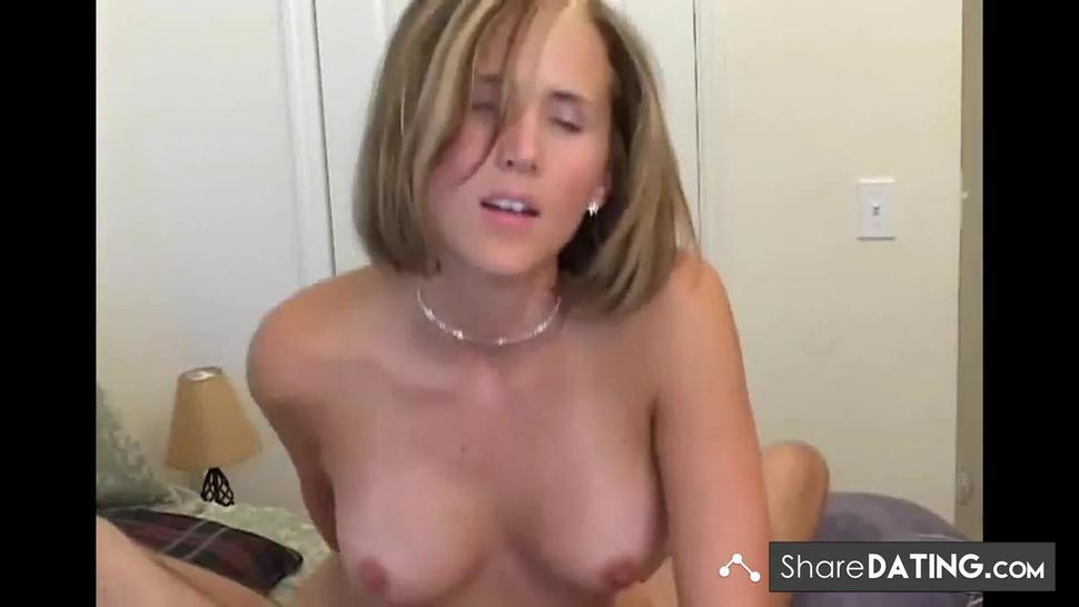 Blonde hottie gets fucked and facialed