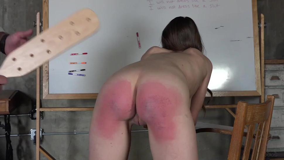 Bare Bottom School Paddling - Varsity Buns