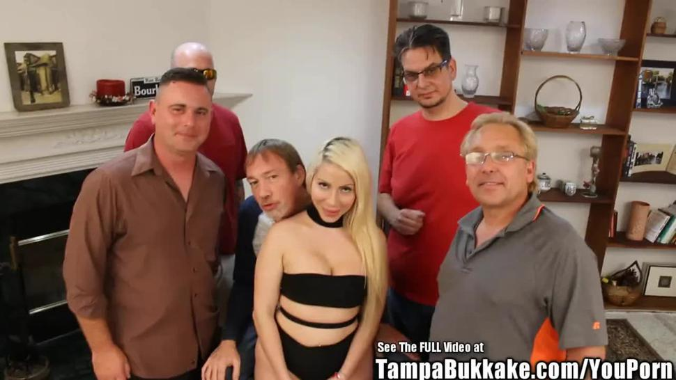 Big Tits Blonde Russian Bride Gangbang Screw Party