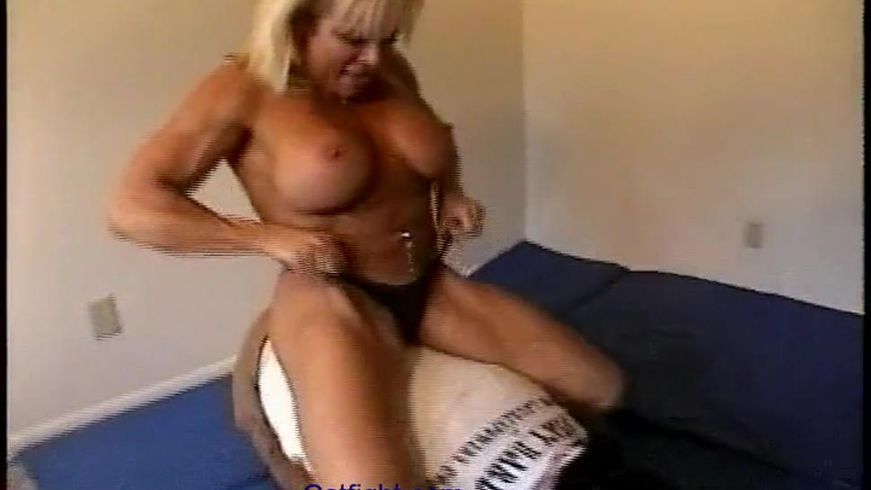 Amateur/smothers scissors breast dominates with