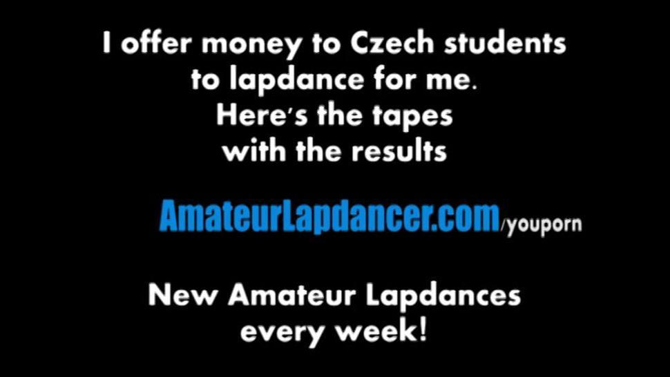 Lapdance, handjob and blowjob by czech amateur cutie