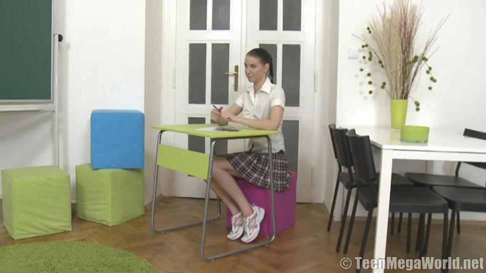 Flat Chick Krystyna Is A Naughty Dick Rider - Valentine A