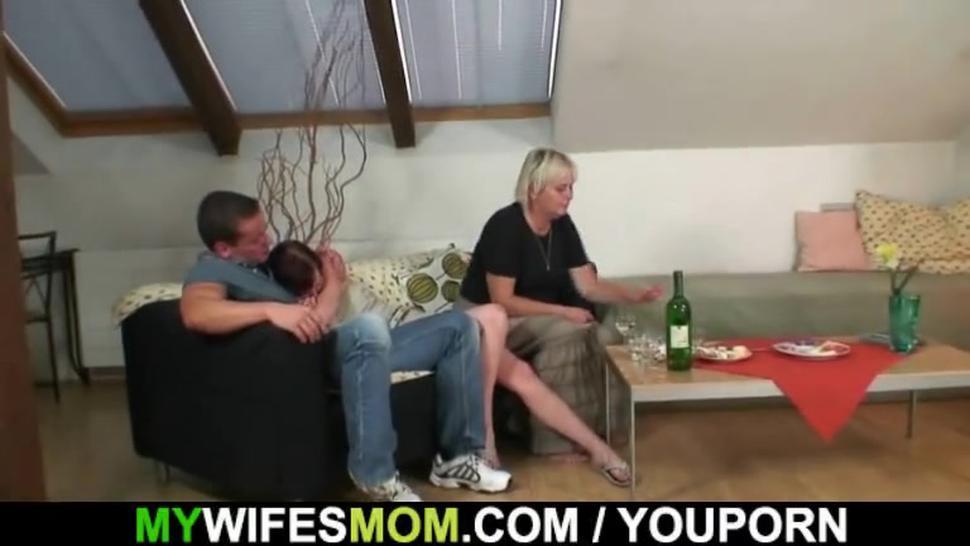 Horny granny seduces son in law