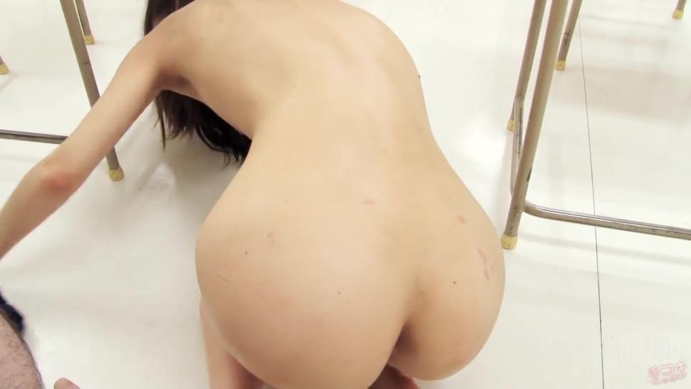 Beautiful horny girl gives a handjob
