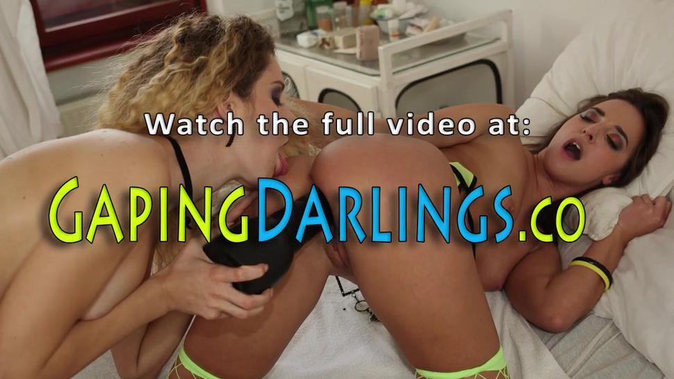 Butt fingering lesbian licks pussy