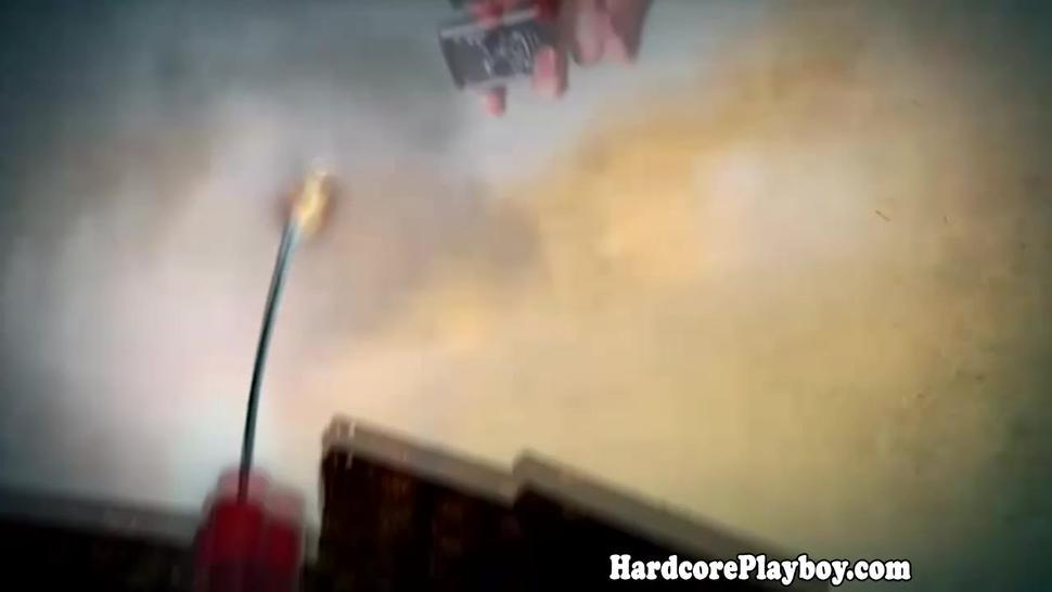 Hardcore Ebony hottie fucks and sucks