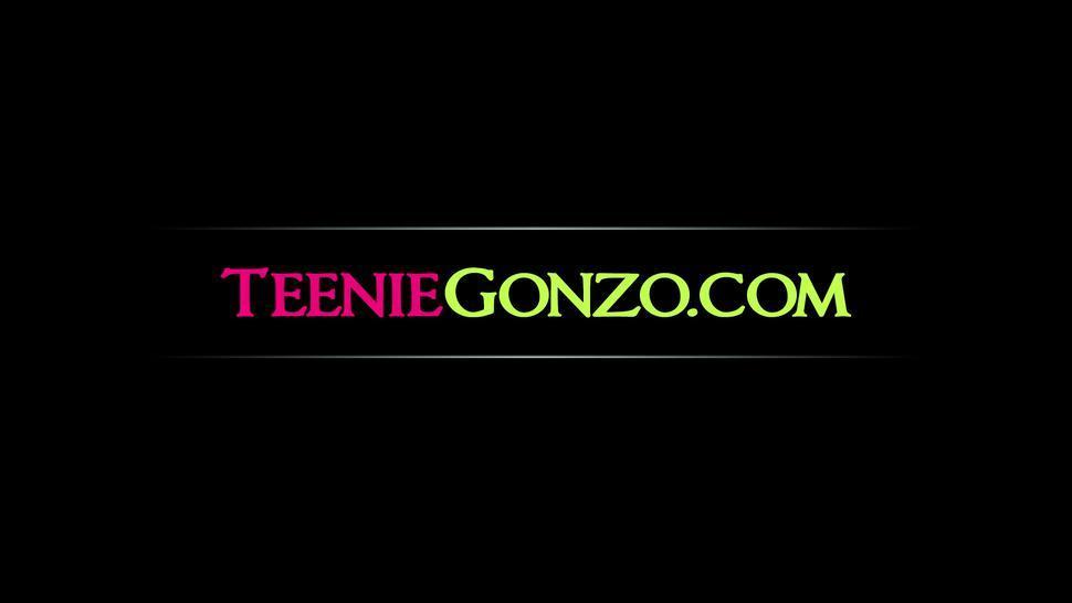 TEENIE GONZO - Big ass busty teen Alexia Vosse sucks and rides big dick