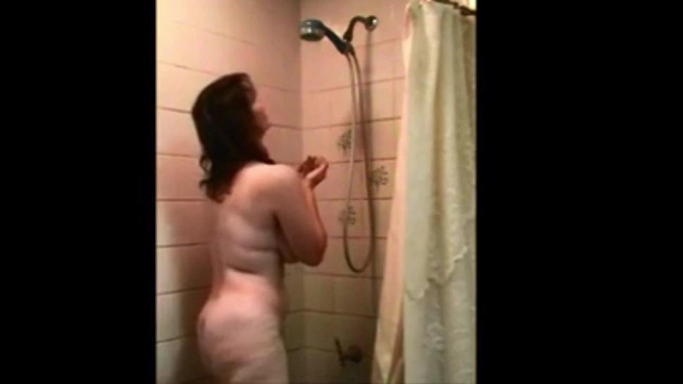 Standing shower masturbation busty Emma