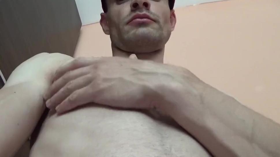 Flexing biceps. Kissing. Lips. Ass. Nipples. Fit body