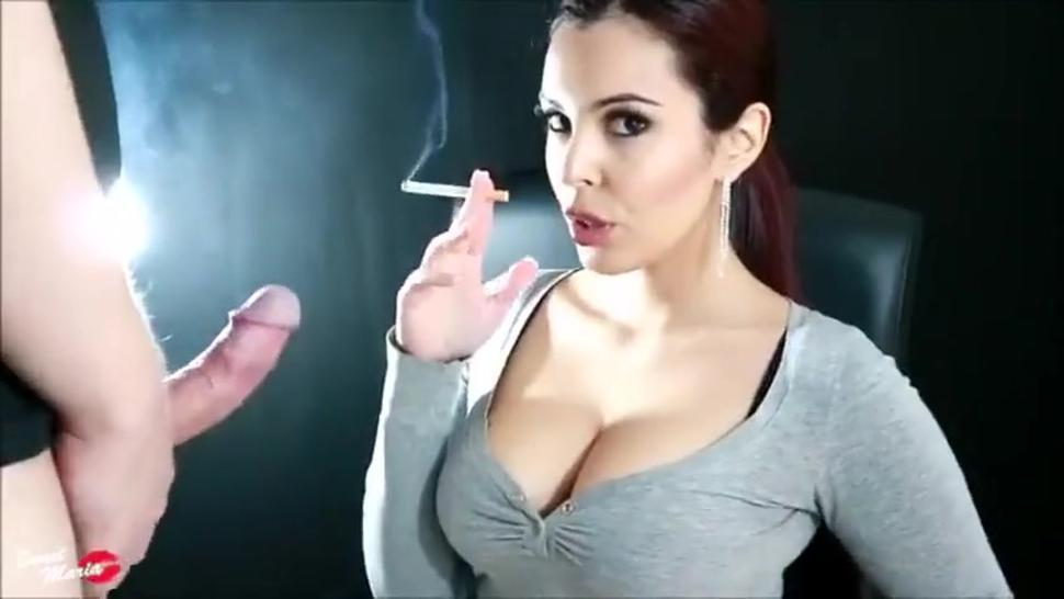 The incredible Sweet M@ria giving sexy smoking blowjob