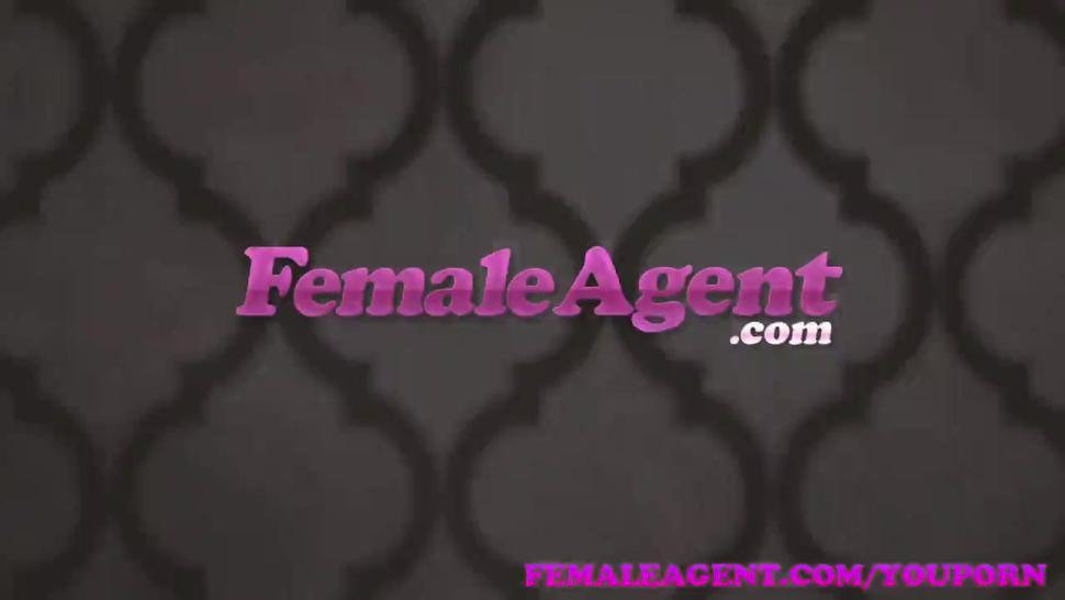 FemaleAgent Amazing casting ends with studs spunk all over sexy agents boobs