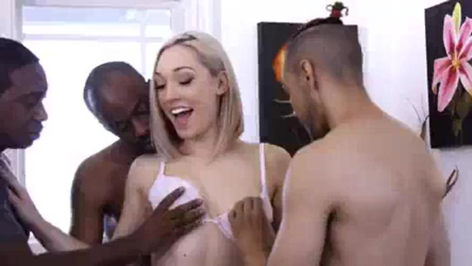 Arzian White Girl Gangbanged By Black Bulls Cock