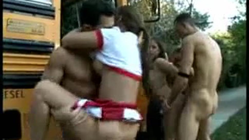 Babes/public banged in team cheerleader