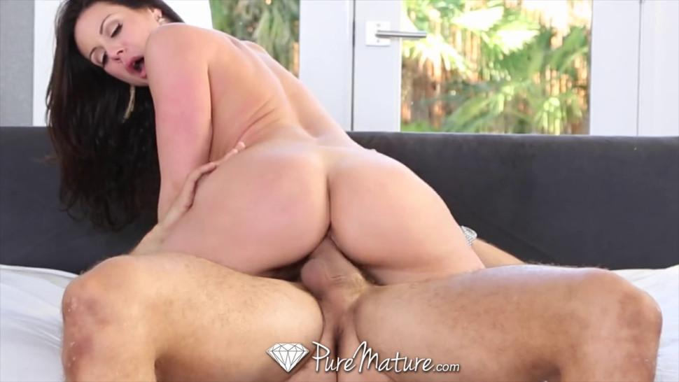 PURE MATURE - Step Son Blows Load All Over Step Mom