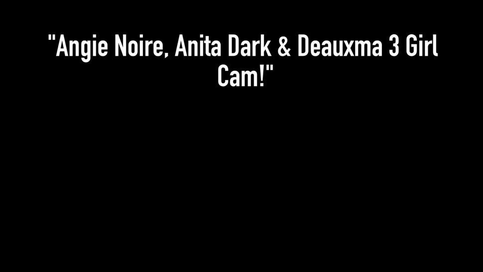 Texas Milf Deauxma Pussy Fucks Angie Noir & Anita Dark!