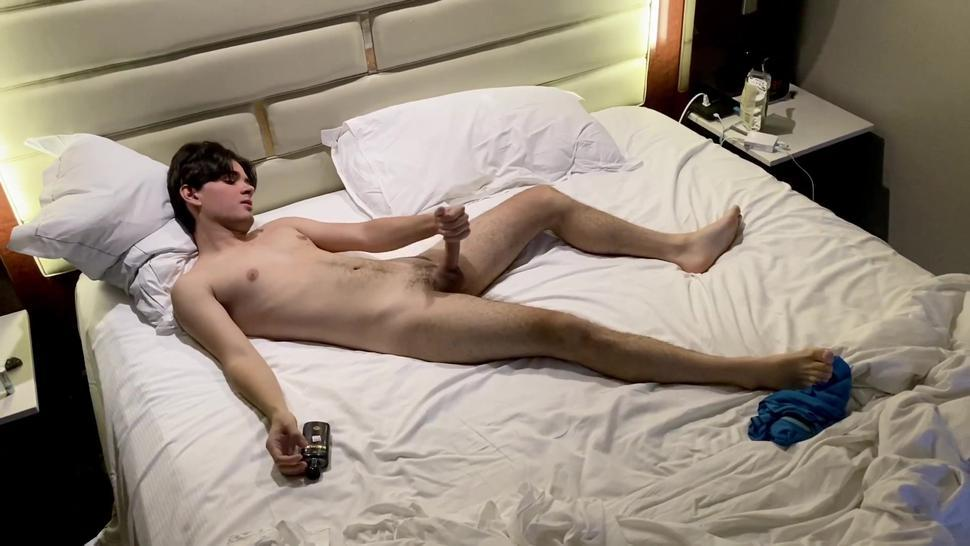 Gorgeous Twink Shows Off Huge Cock And Explodes With Cum