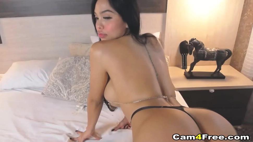 CAM4FREE - Seductive Ebony with Busty tits nice ride live