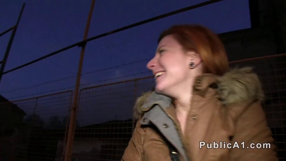 Czech redhead banged in car
