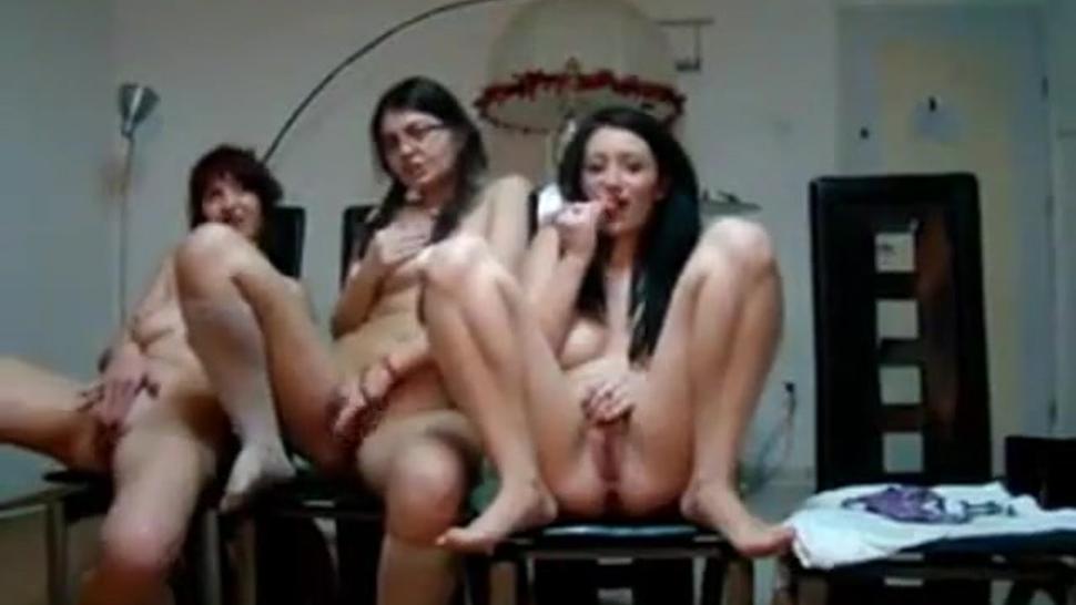 Group of teens masturbate